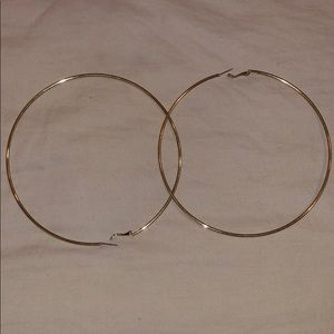 Jewelry - Large hoops faux gold